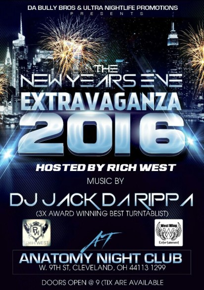 New Years Eve At Anatomy Night Club With Rich West West Wing Empire